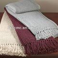 algodão alpin waffle weave throw cobertor vermelho
