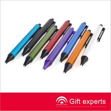 china 2014 nuevo diseño caliente venta promocional del aluminio bolígrafo con las marcas