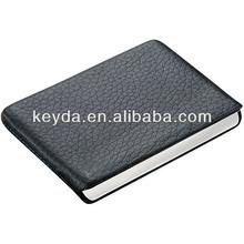 Magnetic switch design genuine leather business card holder/name card holder forpromotion