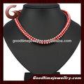 Popular moda coral rosa colar de contas, natural turquesa e coral colar