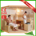 prefabbricate in legno di cedro rosso pietra sauna bagno a vapore a basso prezzo