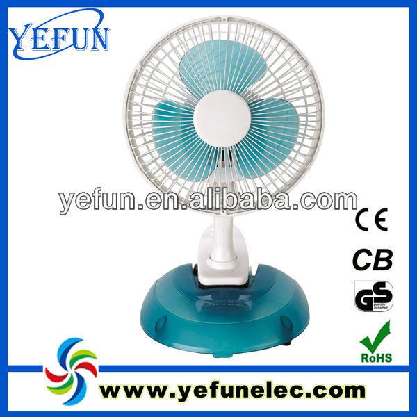 "FT-0602 dc motor cheap price mini PP plastic 2 in 1 table clip fan 6"" factory oem"