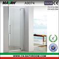 Marco de aluminio ducha de vidrio con bisagras de la puerta pantalla A9074