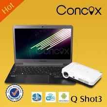 Concox Q shot3 Small multimedia projector with sd,usb port AV,VGA 80 lumens