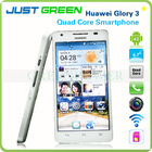 Factory Price Huawei Glory 3 Hisilicon Quad Core 4.7Inch IN-CELL Screen 13.1MP Dual Camera 3G Mobile Phone Support GPS Wifi