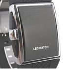 Black Fashion LED silicone electronic watch sport watch youngs watch