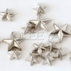 Wholesale New punk rock Nailheads DIY ABS Spikes bag/shoes/clothing studs 9mm and 14mm five-pointed star silver rivets