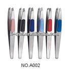 2013 plastic sofe touch slant tweezers cosmetic tweezers eyebrow tweezers