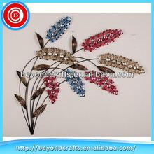 Acrylic Bead Flower Bunch Iron Wall Art