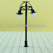 Ho maquette train mises en page, 6 cm T45 double lampe d'éclairage de la tête de modèle