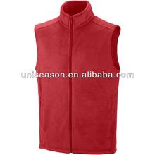 Unisex warm red fleece vest new design