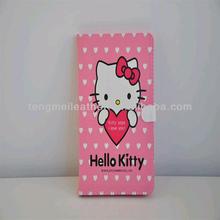 Hello kitty leather case cover for apple ipad mini ,pink cute case for ipad mini