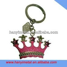 Fashional metal crown keychain princess