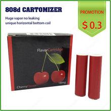 Wholesale flavored disposable mini e-cigarette 808d cartomizer