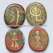 Venta al por mayor blanco jade grabado de piedra new hair usui símbolo, De gran alcance amuletos