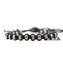 Lotus mann Pyrite kong knitting single bracelet
