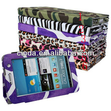 Leopard Flower Zebra wallet Leather Case Cover For Samsung Galaxy Tab 2 7.0 Tablet P3100 with stand