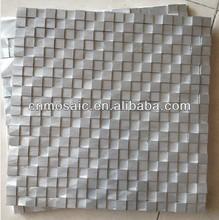 Pure color aluminum luxury silver metal tile