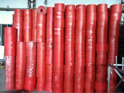 black/red/grey plastic roll