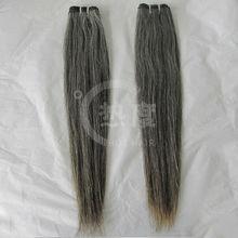 Wholesale cheap malaysian virgin hair hair weft grey color clip in hair extension