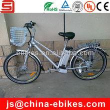 Bicicleta elétrica com cesta( jse46)
