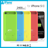 High Quality MFI Battery Protection Cover For iPhone 5C 2400 mah