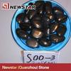 Newstar black polished river rock