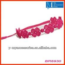 Four leaf clover crochet bracelets