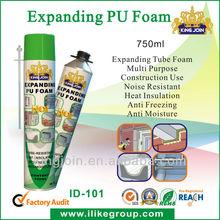 good quality gap filling 750ml PU Foam Spray ( china manufacturer)