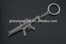 newest CS game submachine gun metal keychain