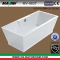 2014 nuovo design moderno acrilico bianco vasca da bagno free standing piazza mv-063t