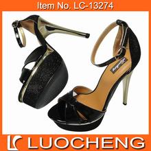 Black Lady High Heel Sandal Woman