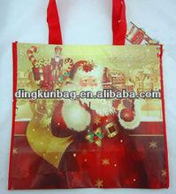 2013 fashion design laminated non woven Christmas tote bag