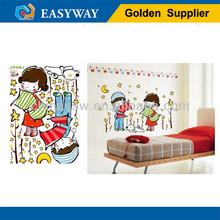 love story wedding room vinyl wall sticker/vinyl wall decoration (WS658)