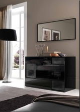 Black Luxury Dressing Table With Drawer