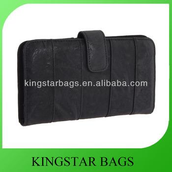 PU black ladies purse