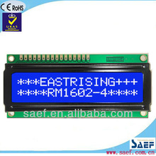 Negative transmissive type lcd module 16 characters X 2 lines with backlight Blue background white characters stn lcd