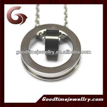 stainless steel birthstone ring pendant