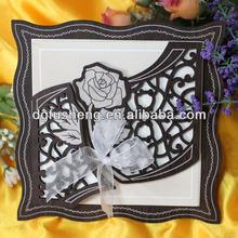 China best folk art wood wedding card printing