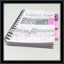 plastic refillable notebook&notebook&a5 notebook