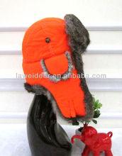 winter warm rabbit fur trapper hat