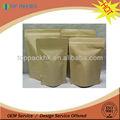 Stand up saco de papel kraft/saco de papel kraft para embalagem de café