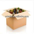 varios de cartón corrugado caja de vino de vidrio de vino caja de embalaje