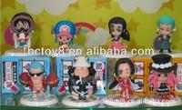 Wholesale japanese Anime cartoon ONE PIECE 8 pcs a set pvc action figure