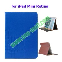 Crazy House Leather Stand Case for iPad Mini Retina with Holder and Card Slots