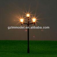 lighting 6.5cm T84 -83 lamppost Street light ,Ho oo scale model train light/ Train railway layout scale model lamp