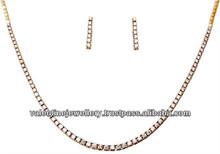 single line pointer diamond necklace white gold setfor wedding,solitair diamond necklace set from indian jeweler,latest design d