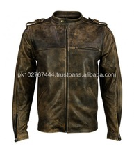 Fashion leather bomber jacket for men custom made