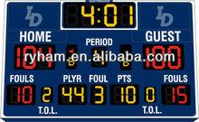 led digits 7 segments scoreboard for basketball
