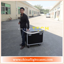 Cheap custom utility cases with 4 inch caster wheel and good flight case hardware